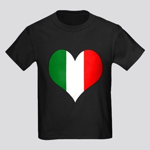 Italy Heart Kids Dark T-Shirt