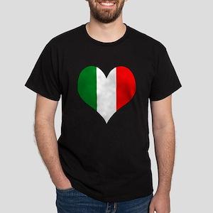 Italy Heart Dark T-Shirt