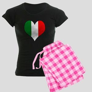 Italy Heart Women's Dark Pajamas