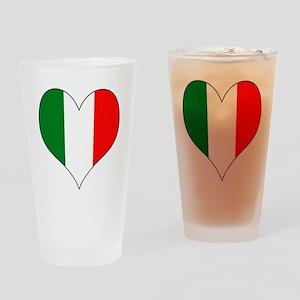 Italy Heart Drinking Glass