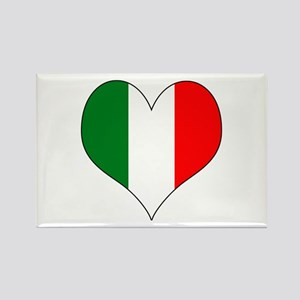 Italy Heart Rectangle Magnet