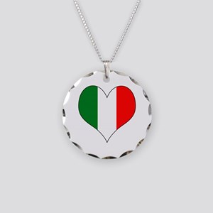 Italy Heart Necklace Circle Charm