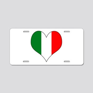 Italy Heart Aluminum License Plate