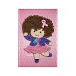 Little Emma (BCA Pink) Rectangle Magnet (100 pack)