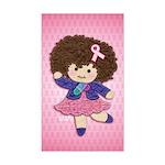 Little Emma (BCA Pink) Sticker (Rectangle)