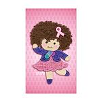 Little Emma (BCA Pink) Sticker (Rectangle 10 pk)