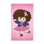 Little Emma (BCA Pink) Sticker (Rectangle 50 pk)