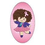 Little Emma (BCA Pink) Sticker (Oval)