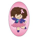 Little Emma (BCA Pink) Sticker (Oval 10 pk)