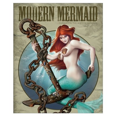 Modern Mermaid 16x20 Framed Print