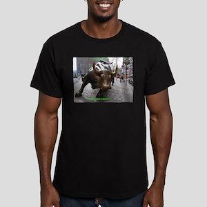 CAPITALI$M FOREVER! Men's Fitted T-Shirt (dark)