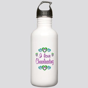 I Love Cheerleading Stainless Water Bottle 1.0L