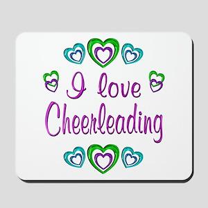 I Love Cheerleading Mousepad