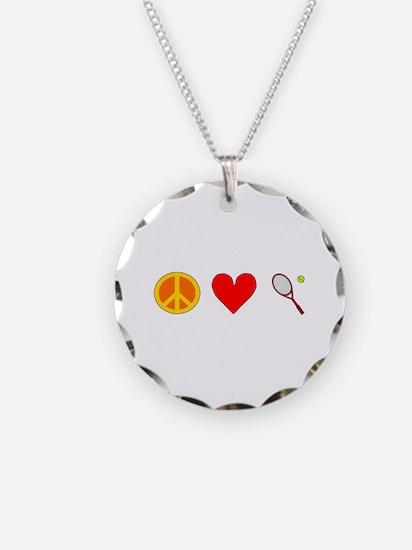 Peace Love Tennis Necklace