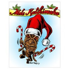Dancing Christmas Tiki Poster