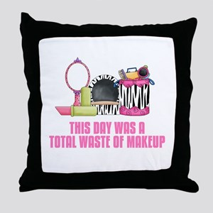Makeup Throw Pillow