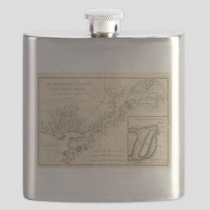 Vintage Map of Istanbul Turkey (1784) Flask