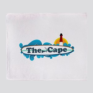 Cape Cod MA - Surf Design Throw Blanket