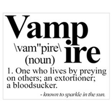 Definition of a Vampire Canvas Art