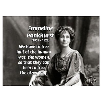 Suffragist Emmeline Pankhurst Poster