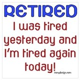 Funny retired Posters