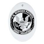 US Border Patrol mx Oval Ornament