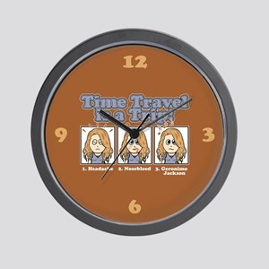 TIME TRAVEL IS A TRIP Wall Clock