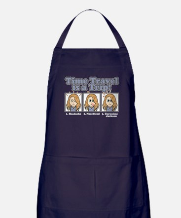 TIME TRAVEL IS A TRIP Apron (dark)