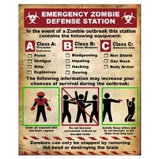 Emergency Zombie defense Station Poster