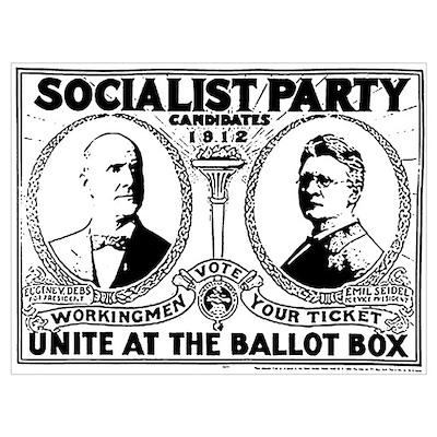 Vintage Eugene Debs Campaign P Poster