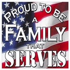 """""""Proud Family that Serves"""" Poster"""