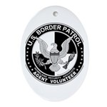 US Border Patrol mx2 Oval Ornament