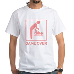New Dad to be - Game over Dia White T-Shirt
