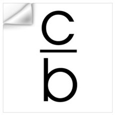 """C Over B"" Wall Decal"