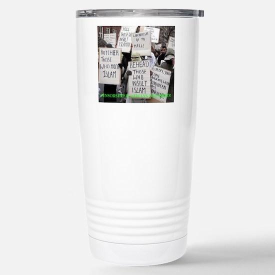 censorship Stainless Steel Travel Mug