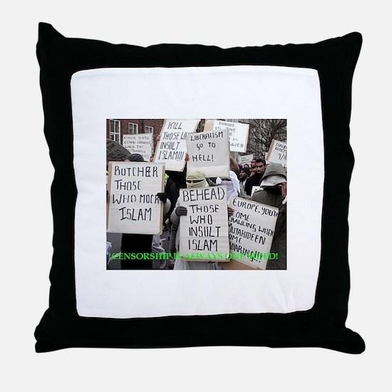 censorship Throw Pillow