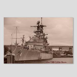 USS Little Rock Postcards (Package of 8)