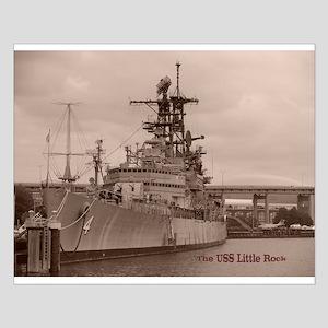 USS Little Rock Small Poster
