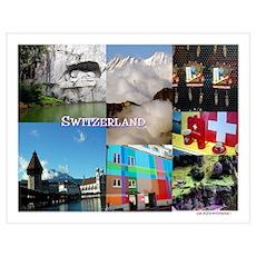Lucerne Switzerland Photo Collage-Celeste Sheffey Poster