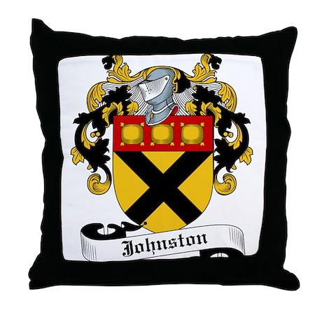 Johnston Coat of Arms Throw Pillow
