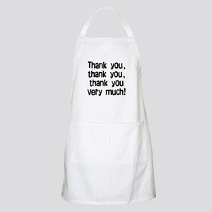 thank you thank you Apron