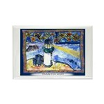 Starry-Fish Night Rectangle Magnet