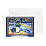 Starry-Fish Night Greeting Card