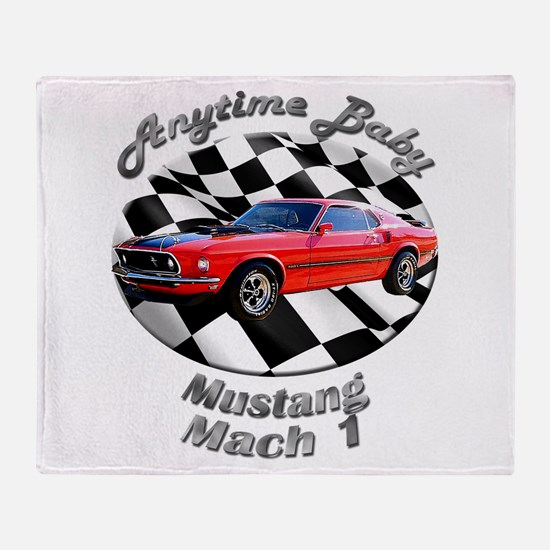 Ford Mustang Mach 1 Throw Blanket