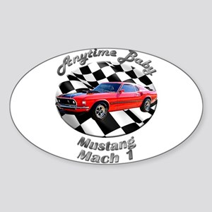 Ford Mustang Mach 1 Sticker (Oval 10 pk)