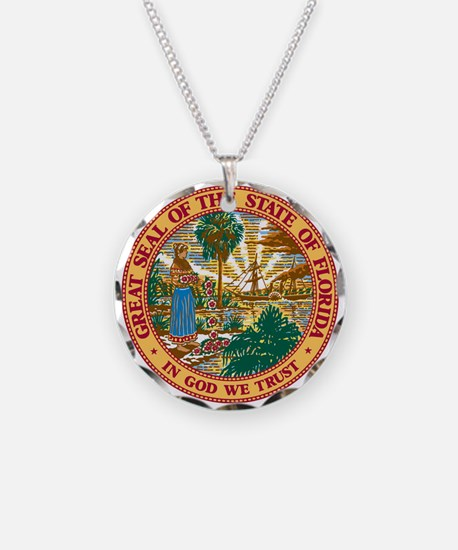 FL Seal Necklace Circle Charm