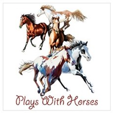 Plays With Horses Poster