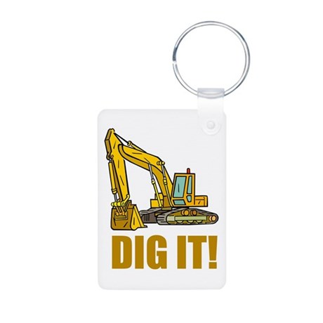Dig It! Aluminum Photo Keychain