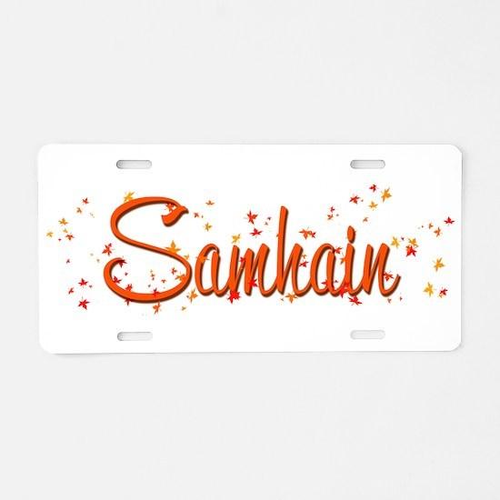 Samhain Aluminum License Plate