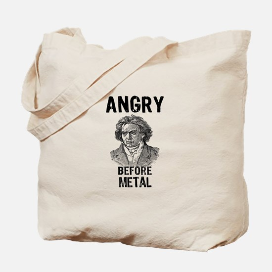 Beethoven: Angry Before Metal Tote Bag